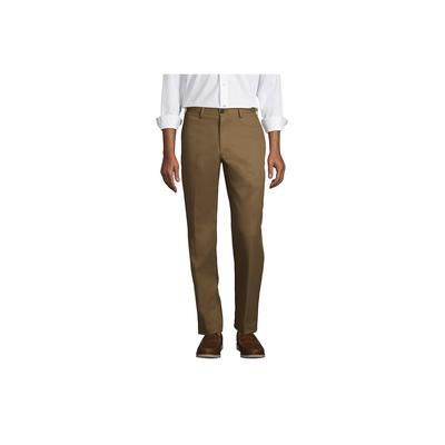Men's Traditional Fit No Iron Chino Pants - Lands' End - Brown - 42