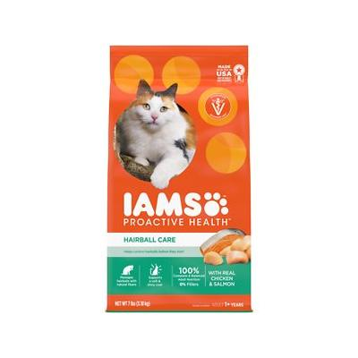 Iams ProActive Health Adult Hairball Care Dry Cat Food, 7-lb bag