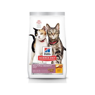 Hill's Science Diet Adult Multiple Benefit Chicken Recipe Dry Cat Food, 15.5-lb bag