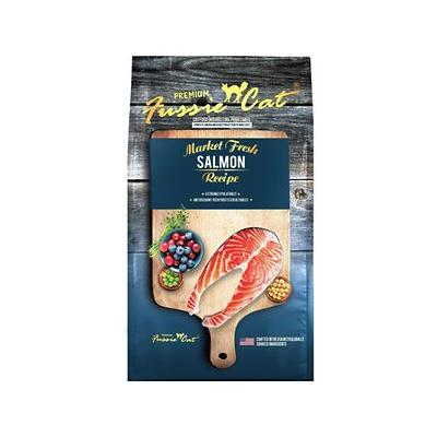Fussie Cat Market Fresh Salmon Recipe Grain-Free Dry Cat Food, 10-lb bag