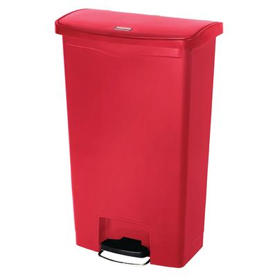 Rubbermaid 1883564 8 gal Rectangle Plastic Step Trash Can, 16.73L x 10.66W x 21.11H, Red on Sale