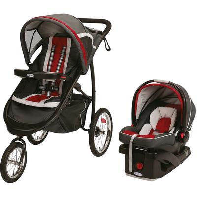 Graco FastAction Fold Jogger Click Connect Travel System - Chili Red on Sale