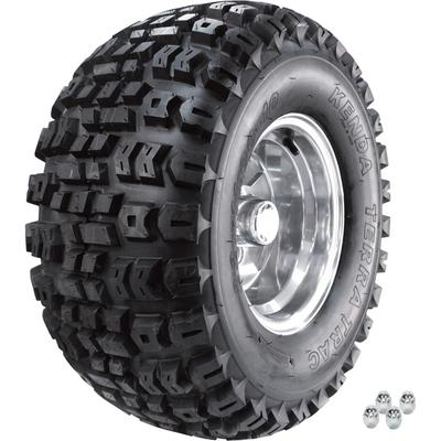 Kenda Golf Cart Aluminum Wheel and Tire Assembly - 22 x 11-10, Knobby Tread, Fits Club Car and EZGo Carts