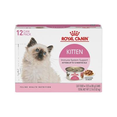 Royal Canin Feline Health Nutrition Thin Slices in Gravy Canned Kitten Food, 3-oz, case of 12