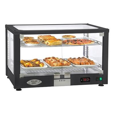 Equipex WD780B-2 30.5 Full-Service Countertop Heated Display Case w/ Straight Glass - (2) Shelves, 120v