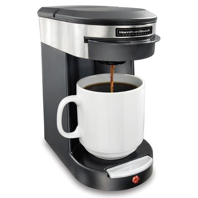 Hamilton Beach HDC200S 1 Cup Pod Coffee Maker - Black/Stainless, 120v on Sale