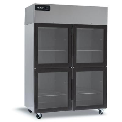 Delfield GBR2P-GH 55.2 Two Section Reach In Refrigerator, (4) Left/Right Hinge Glass Doors, 115v