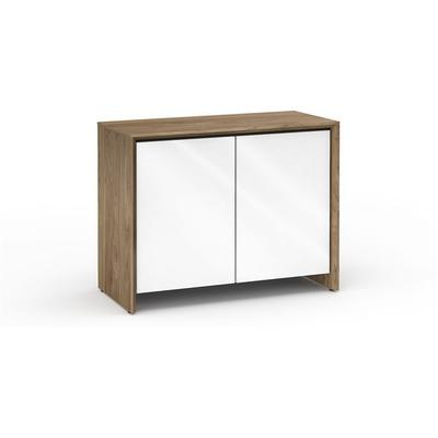 Salamander Designs Chameleon Collection Barcelona 323 Natural Walnut with White Doors