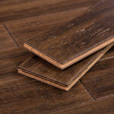 Distressed Bamboo Wood Flooring by Cali Bamboo, Dark Brown Sample