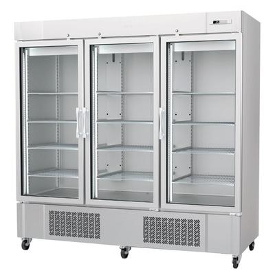 Infrico IRR-AN67CR 82 Three Section Reach In Refrigerator, (3) Left/Right Hinge Glass Doors, 115v