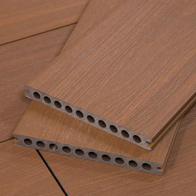 TruOrganics Composite Decking Material, Brown Wood Grain, Sample