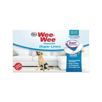 Wee-Wee Disposable Dog Diaper Super Absorbent Liner Pads, 10 count