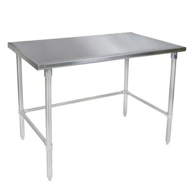 John Boos ST4-30120SBK 120 14 ga Work Table w/ Open Base & 300 Series Stainless Flat Top on Sale