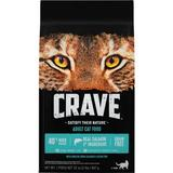 Crave with Protein from Salmon & Ocean Fish Adult Grain-Free Dry Cat Food, 2-lb bag