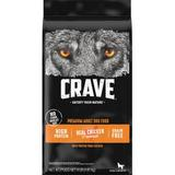 Crave with Protein from Chicken Adult Grain-Free Dry Dog Food, 4-lb bag