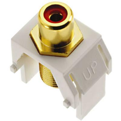 OnQ Keystone Red RCA To F-Connector, White