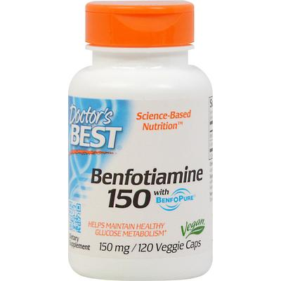Doctor's Best Benfotiamine 150 mg with BenfoPure-120 Vegi Caps
