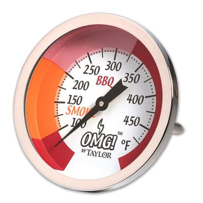 Taylor 814GW Dial Grill & Smoker Thermometer w/ Smoke & BBQ Range Indicator on Sale