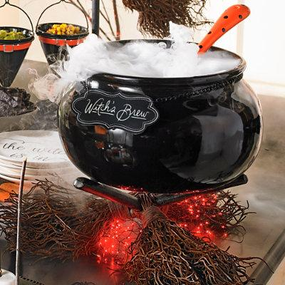 Witch's Brew Serving Cauldron Halloween Decoration - Grandin Road