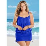 Blouson One-Piece One-Piece Swimsuits & Monokinis - Blue