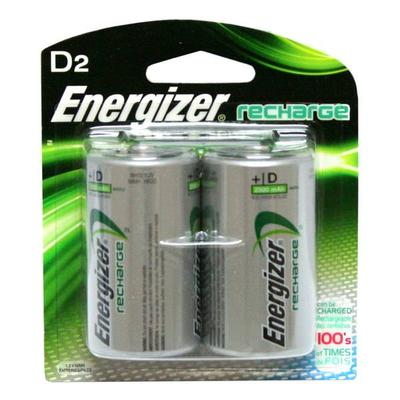 Energizer 01203 - 2 D Cell NiMH 2500mAh e2 Rechargeable Batteries (2 pack) (NH50BP-2 D-2PK RECHARGEABLE NICKEL HYDRIDE)