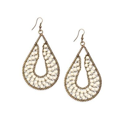 """Beaded Drop Earrings Jewelry - Metallic"""