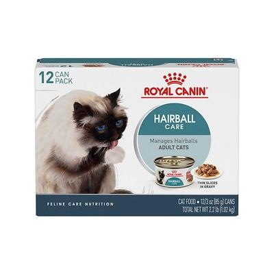 Royal Canin Hairball Care Thin Slices in Gravy Canned Cat Food, 3-oz, pack of 12