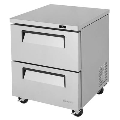 Turbo Air TUR-28SD-D2-N 7 cu ft Undercounter Refrigerator w/ (1) Section & (2) Drawers, 115v on Sale