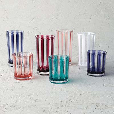 Riviera Striped Acrylic Tumblers...
