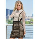 CUT OUT Detail Lace Dress Dresses - Black/white