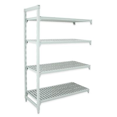Cambro CPA247272V4PKG Polymer Louvered Add-On Shelving Unit - 72L x 24W x 72H on Sale