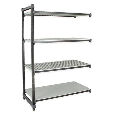 Cambro EA184284VS4580 Polymer Louvered/Solid Add-On Shelving Unit - 42L x 18W x 84H on Sale