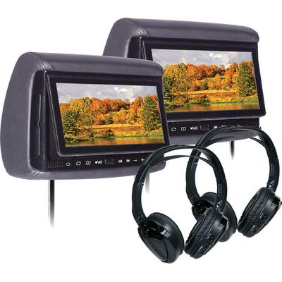 "Concept BSD705PKG Bundle with Two 7"" Headrest Monitor, Two Headphones on Sale"