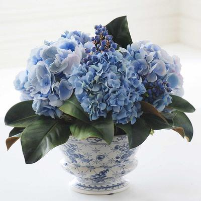 Mixed Hydrangea and Blueberry Chinoiserie - Frontgate