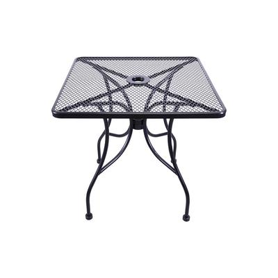 H&D Commercial Seating MT3636 36 Square Outdoor Patio Table - Wrought Iron, Black