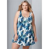 Plus Size Casual DAY Dress - White/multi