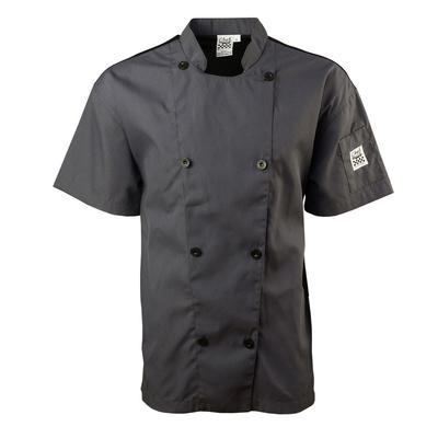Chef Revival J205GR-XL Short Sleeve Double Breasted Jacket, X-Large, Pewter Grey on Sale
