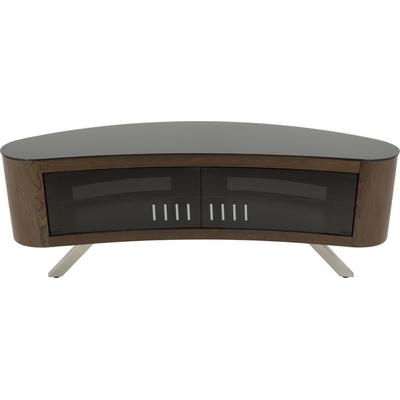 AVF - AVF Bay Affinity Plus Curved TV Stand 1500- Walnut w/ Black Glass