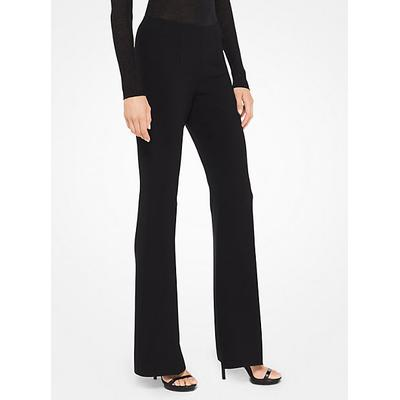 Michael Kors Collection Stretch-Crepe Flared Pants Black 12
