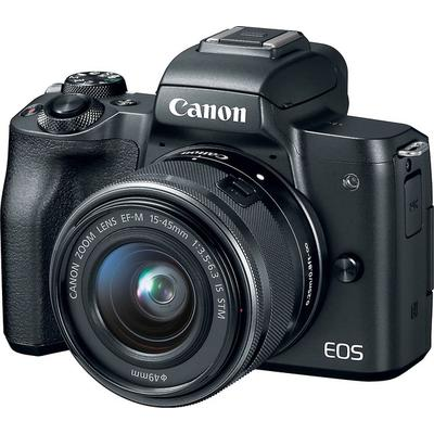 Canon EOS M50 w 15-45mm Lens- Black on Sale