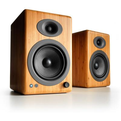 Audioengine A5+ powered speakers with Bluetooth (Natural Bamboo)