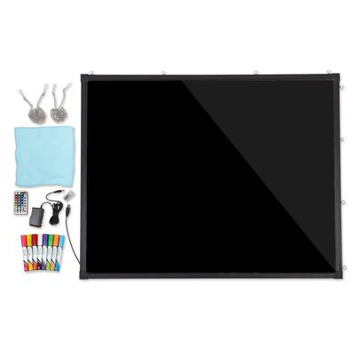 Alpine Industries 495-05 Wall-Mount LED Marker Board - 39.4 x 31.5, Glass w/ Aluminum Frame on Sale