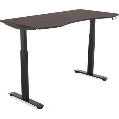 MotionWise SDD60A Motorized Lift Desk -American Walnut