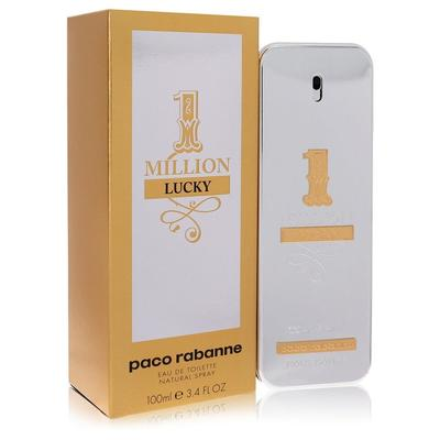 1 Million Lucky For Men By Paco Rabanne Eau De Toilette Spray 3.4 Oz