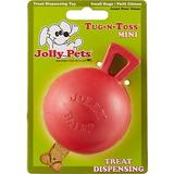 Jolly Pets Tug-n-Toss M-ini Dog Toy, Red, 3-in