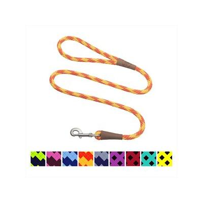 Mendota Products Large Snap Checkered Dog Leash, Amber, 6-ft