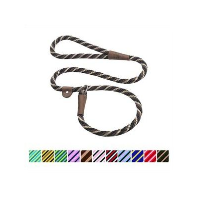 Mendota Products Large Slip Striped Dog Lead, Mocha, 4-ft ; Discover the timeless design and lasting quality of the Mendota Products Large Slip Striped Dog Lead. Handcrafted in the USA, this British-style lead is a leash and collar in one convenient...