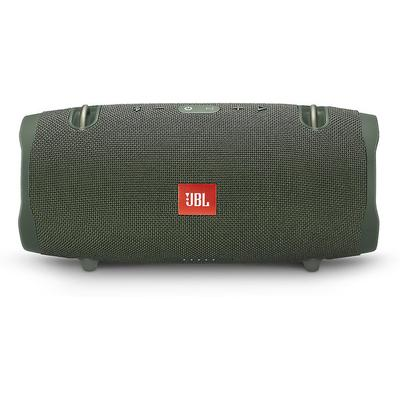 SB: JBL Xtreme 2 portable Bluetooth speaker (green) (green) built-in rechargeable lithium ion battery lasts up to 15 hours,built-in microphone with echo reduction and noise-cancellation for wireless speakerphone operation,USB port to recharge smartphones and tablets