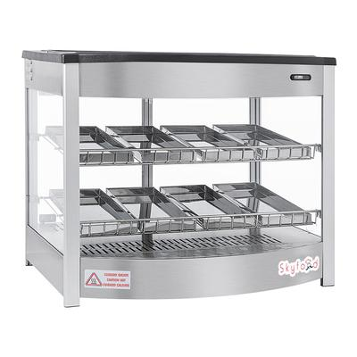 Skyfood FWD2S8P 25 5/8″ Full Service Countertop Heated Display Case – (2) Shelves, 120v