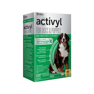 Activyl Flea Treatment for Extra Large Dogs & Puppies, 89-132 lbs, 6 treatments
